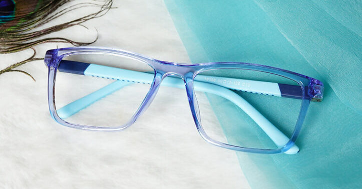 Kids Computer Glasses Light Blue Kiddie